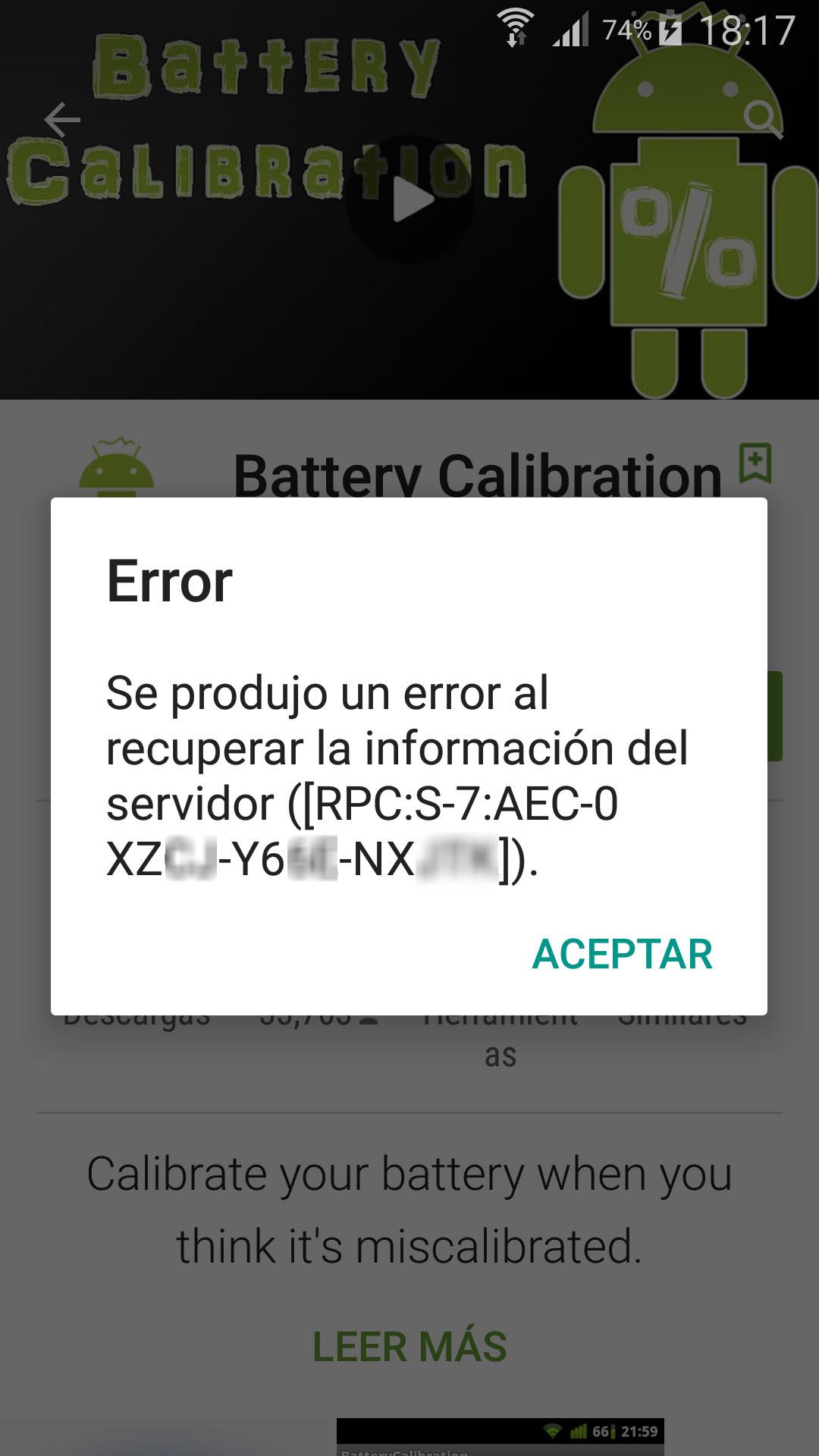 Solución al aviso de la Play Store «Se produjo un error al recuperar la información del servidor»