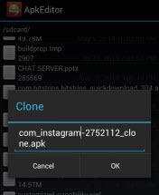 clonar duplicar aplicaciones android apk editor