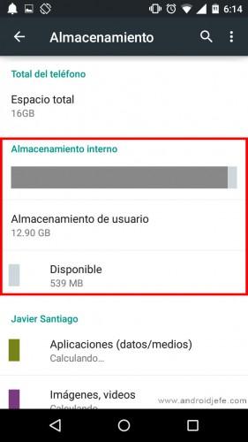 No puedo descargar aplicaciones y tengo memoria almacenamiento