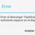Por qué NO puedo descargar aplicaciones SI tengo memoria disponible?