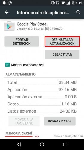 No puedo descargar aplicaciones y tengo memoria play store