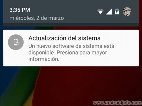 actualizacion ota android notificacion