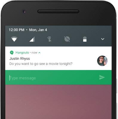 android n responder desde notificacion