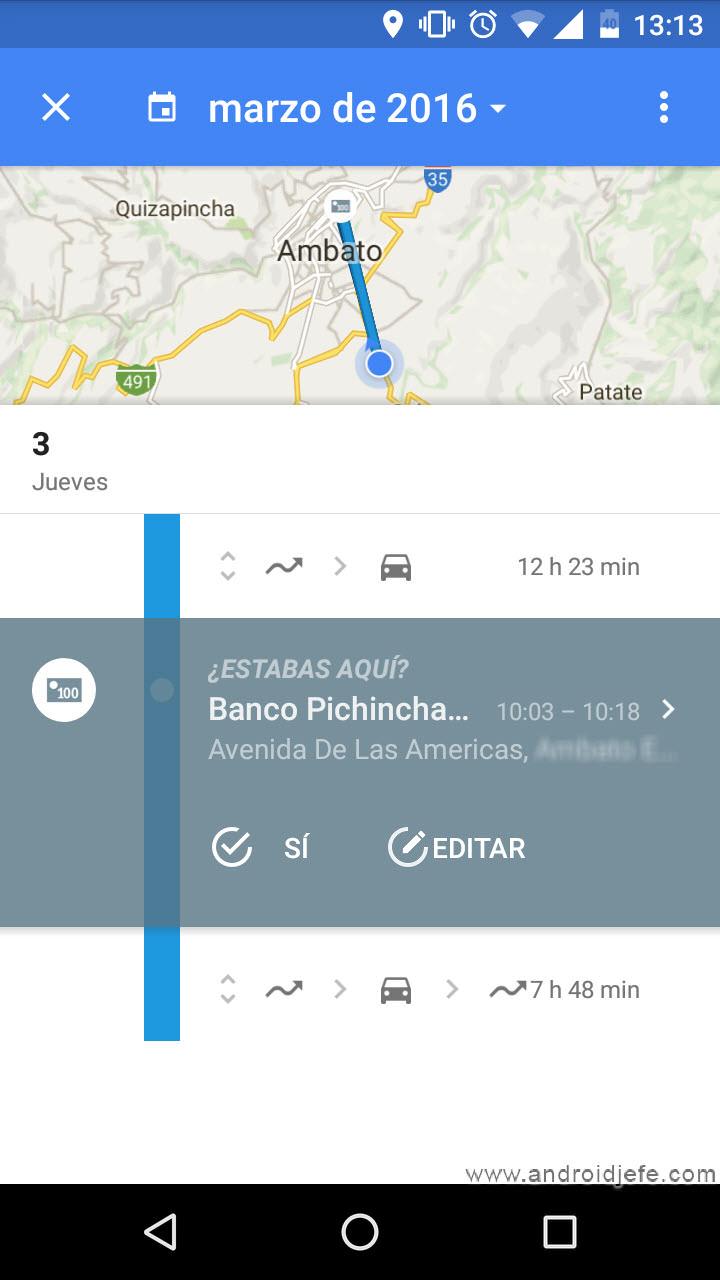 Cómo saber los LUGARES donde has estado, mediante tu celular Android