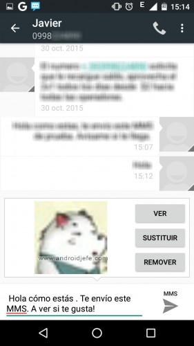 configurar mms android enviar