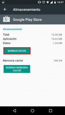 error play store soluciones borrar datos