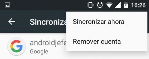error play store eliminar cuenta