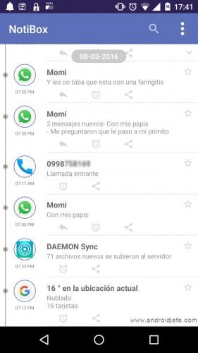 guardar notificaciones android notibox