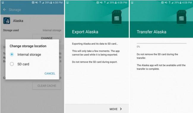 Mover aplicaciones en el Samsung Galaxy S7. Fuente: Droid Life