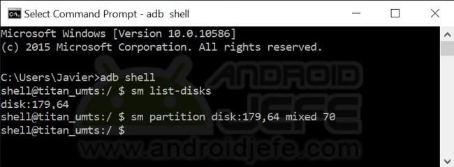 Procedimiento completo para configurar la tarjeta SD modo mixto.