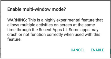 ventana multiple android marshmallow
