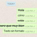 Cómo cambiar el formato de letra en WhatsApp