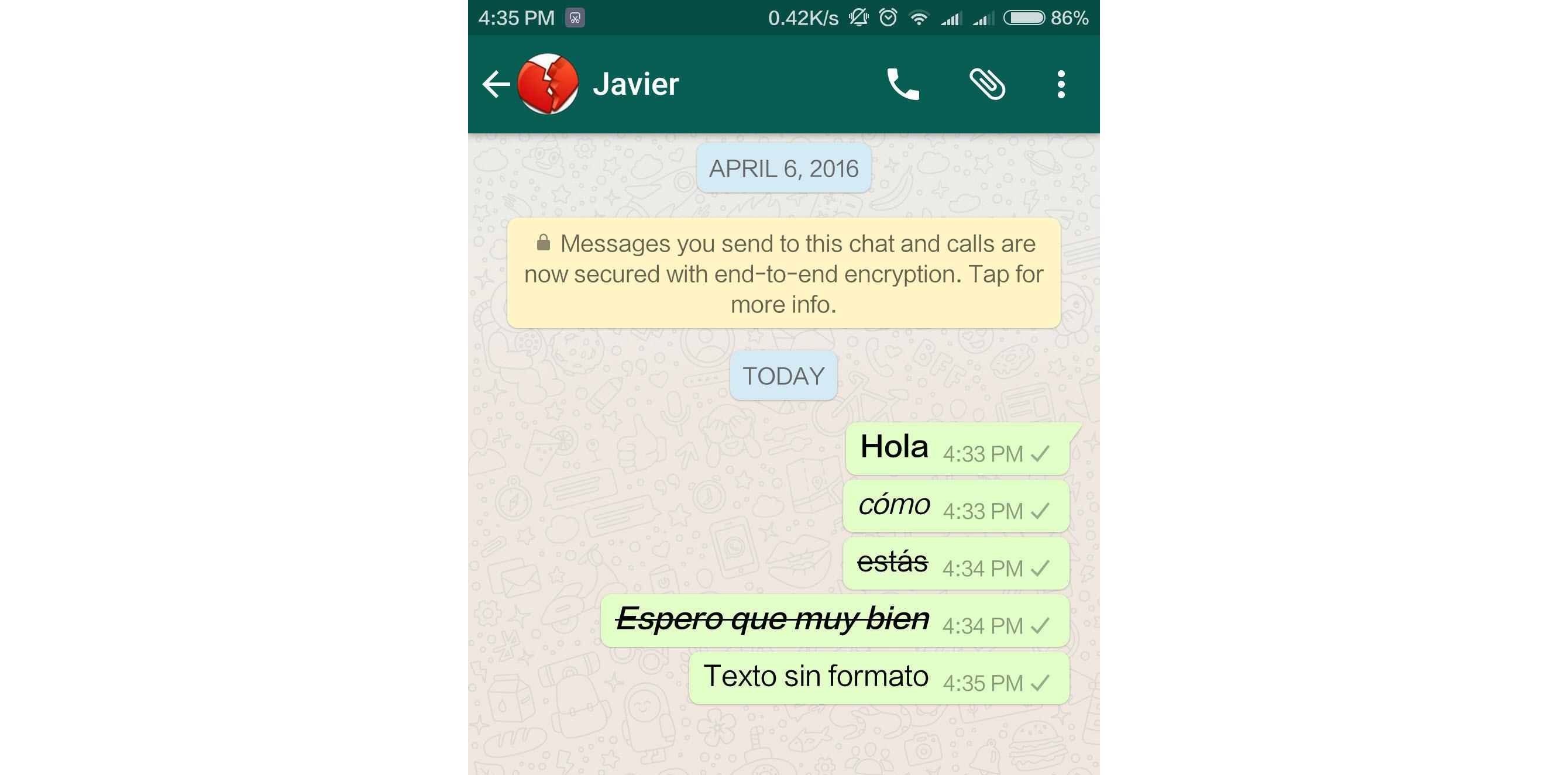 4 «códigos» de WhatsApp para cambiar el tipo de letra en tus mensajes