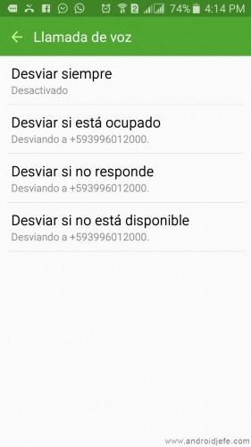 celulares dual sim llamadas desviar