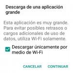 "Solución al aviso ""Descarga de aplicación grande"" en Xiaomi o MIUI"