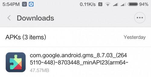 instalar actualizar google play services apk