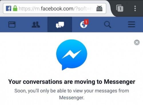 mensajes sin messenger facebook movil