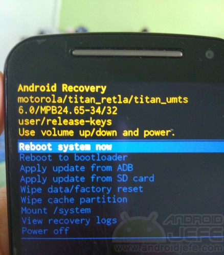 modo recuperacion android