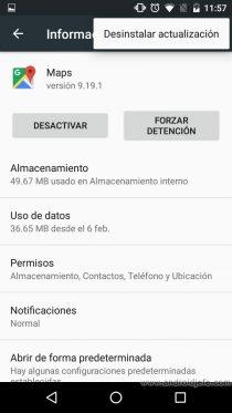 celular poca memoria interna desinstalar actualizacion