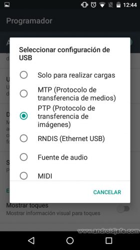conexion usb defecto android marshmallow