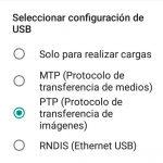 Cómo cambiar la conexión USB por defecto en Android 6 Marshmallow