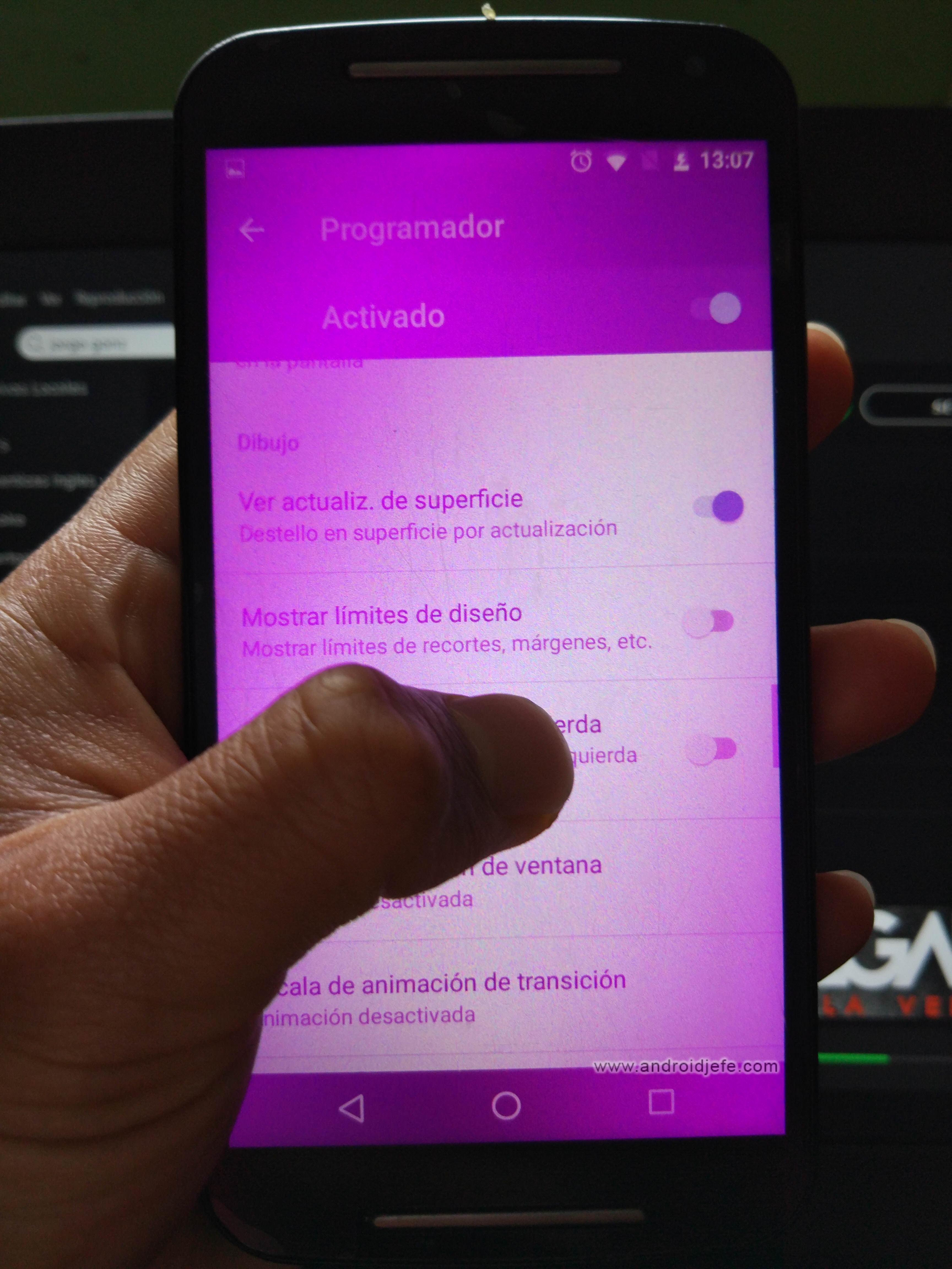 5 «errores» que se generan al manosear el menú PROGRAMADOR de Android