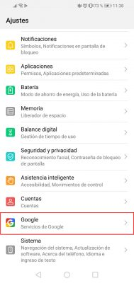 google android configuration