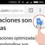 Traducir texto sin salir de la aplicación actual usando Google Traductor