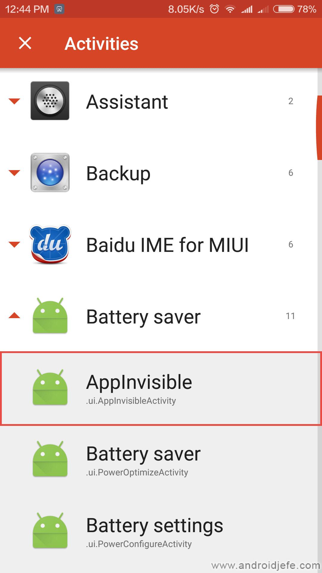 Truco para desactivar «cualquier» aplicación en un móvil Xiaomi