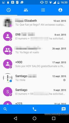 activar desactivar sms messenger