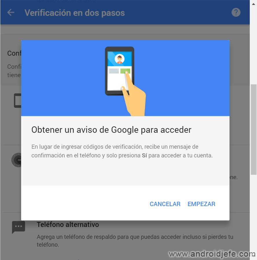 Cómo autorizar el acceso a tu cuenta Google desbloqueando el celular