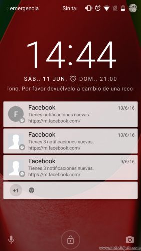 control notificaciones facebook chrome android