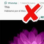 Desactivar vista previa de mensajes WhatsApp en Android