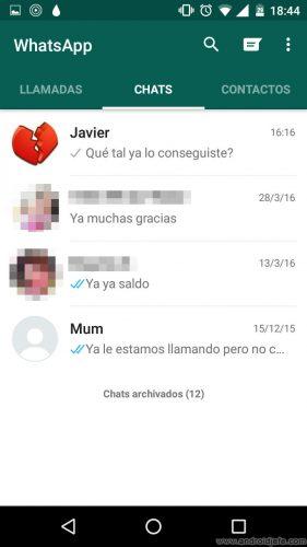 desactivar vista previa mensajes whatsapp conversaciones