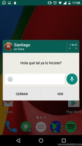desactivar vista previa mensajes whatsapp emergente