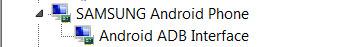 instalar drivers android comprobar adb samsung