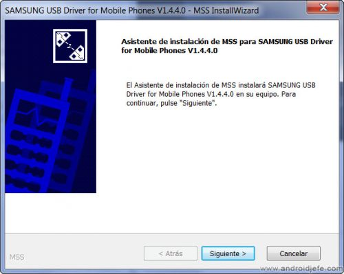 instalar drivers android software