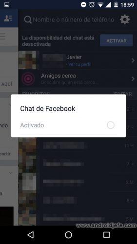 aparecer desconectado facebook celular