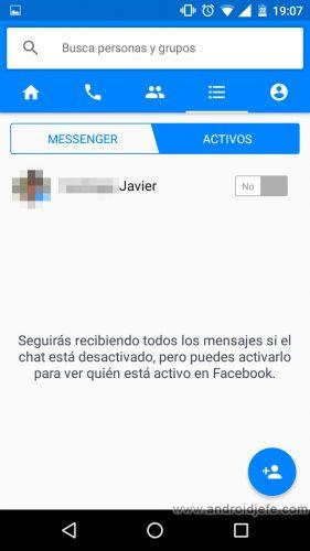 aparecer desconectado facebook messenger