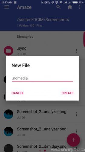 borrar thumbnails android nomedia