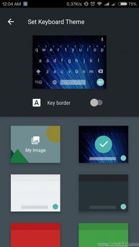 cambiar color teclado google imagen fondo