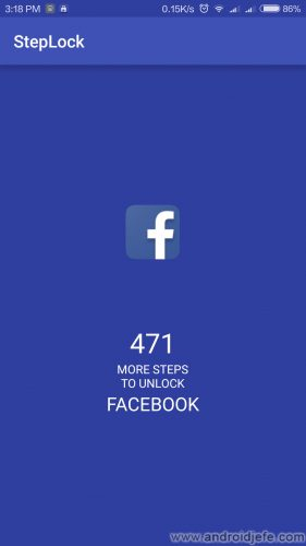 caminata desbloquear aplicaciones facebook
