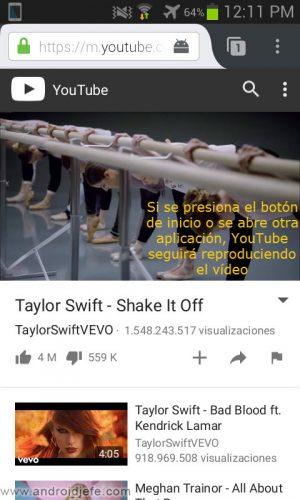 firefox youtube de fondo pantalla apagada