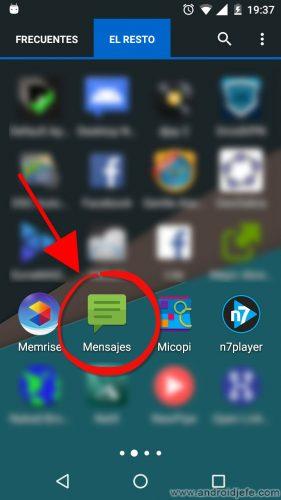ocultar sms android
