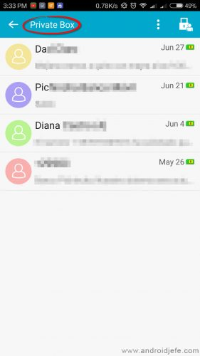 ocultar sms android bandeja privada