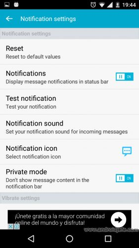 ocultar sms android notificaciones