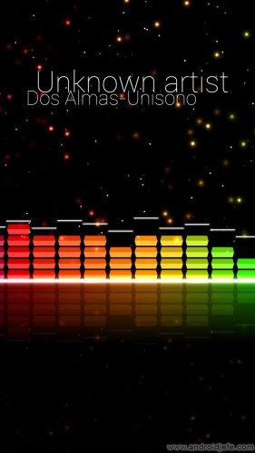 reproductor música espectro barras audio glow