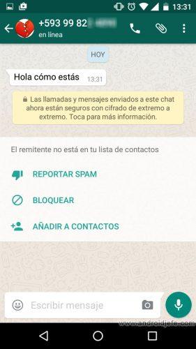 bloquear numero whatsapp sin tenerlo registrado