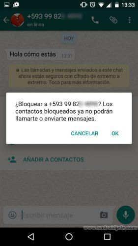 bloquear numero whatsapp sin tenerlo registrado confirmar