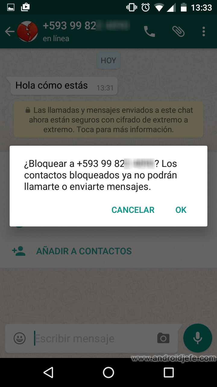 ¿Cómo saber si un contacto me ha bloqueado en WhatsApp?